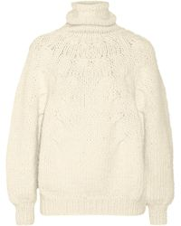 Oscar de la Renta Chunky-knit Alpaca-blend Turtleneck Sweater - Lyst