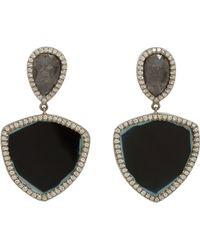 Monique Pean Atelier - Diamond & Tourmaline Drop Earrings - Lyst