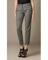Burberry Tailored Wool Trousers - Lyst