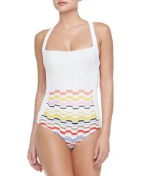 Missoni Mare Multicolor Waves One-Piece Swimsuit - Lyst