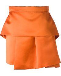 McQ by Alexander McQueen Pleated Peplum Skirt - Lyst