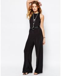 First & I - Wide Leg Jumpsuit - Lyst