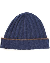 Brunello Cucinelli - Ribbed Knitted Beanie Hat - Lyst a8c948a39b3a