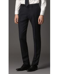 Burberry Slim Fit Virgin Wool Trousers - Lyst