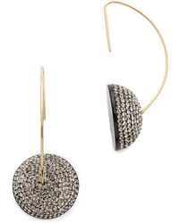 Marc By Marc Jacobs - Pave Cabochon Hoop Earrings - Lyst