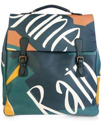 Burberry Prorsum | Book Cover Print Leather Travel Bag | Lyst