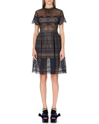 Self-Portrait - Felicia Embroidered-lace Dress - Lyst
