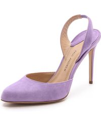 Paul Andrew Solace Slingback Heels - Lilac - Lyst
