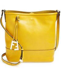 Fendi Leather Bucket Crossbody Bag - Lyst
