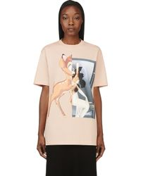 Givenchy Peach Bambi Graphic T_shirt - Lyst