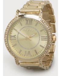 Bebe Rhinestone Watch - Lyst