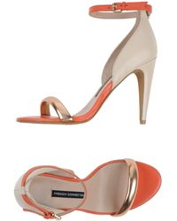 French Connection Sandals orange - Lyst