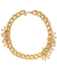 Tory Burch Idelle Flower Necklace - Lyst