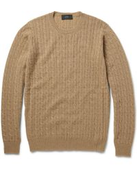 Incotex Zanone Fineknit Camelhair Sweater - Lyst