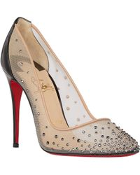 Christian Louboutin Crystal-Embellished Follies Strass Pumps - Lyst
