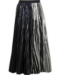 Proenza Schouler Pleated Metallic Coated Cloqué Maxi Skirt - Lyst