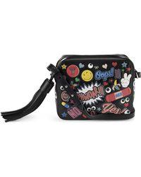 Anya Hindmarch   Wink Sticker Leather Crossbody Bag   Lyst