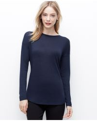 Ann Taylor Back Zip Pleat Top - Lyst