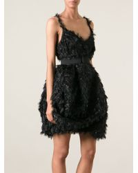 Lanvin Feather Effect Dress - Lyst