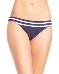 Shoshanna | Striped Jersey Classic Bikini Bottom | Lyst