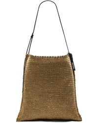 Osklen - Rustic Leather and Knit Bag - Lyst