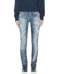 Diesel  Faded and Distressed Grupee L32 Jeans - Lyst