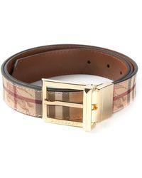 Burberry Brit - Haymarket Check Belt - Lyst