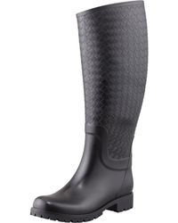 Bottega Veneta Intrecciato Rubber Rainboot - Lyst