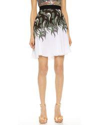 Rodarte Lace & Chiffon Skirt - Green/White - Lyst
