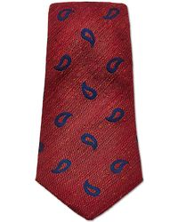 Turnbull & Asser - Rustic Paisley Tie In Red - Lyst