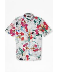 French Connection Floral Reef Short Sleeve Shirt white - Lyst