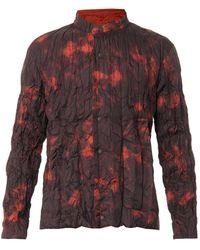 Issey Miyake Tiedye Crinklenylon Reversible Jacket - Lyst
