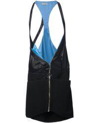 Paco Rabanne Long Zip Waistcoat - Lyst