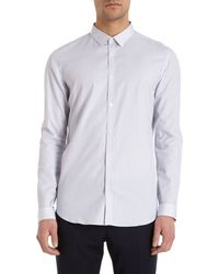 Burberry Prorsum Striped Shirt - Lyst