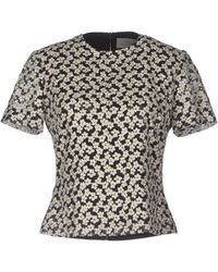 Preen By Thornton Bregazzi Floral Printed Short Sleeves Blouse - Lyst
