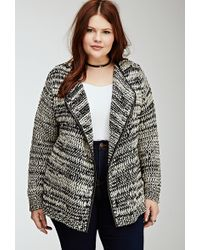 Forever 21 Marled Knit Cardigan - Lyst