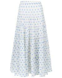 Denim & Supply Ralph Lauren - Tiered Rose Maxi Skirt - Lyst