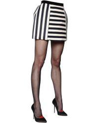 Daniele Carlotta - Striped Canvas Mini Skirt - Lyst