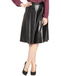 Soprano Plus Size Faux-leather A-line Skirt - Lyst