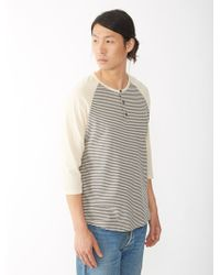 Alternative Apparel Organic Pima Striped Baseball Henley Shirt - Lyst