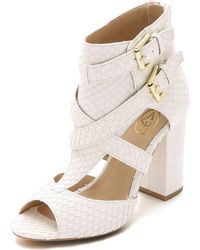 Ash Obsession Peep Toe Booties - Off White - Lyst