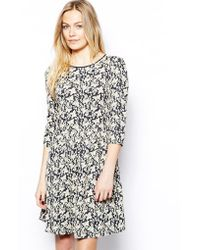Oasis Butterfly Jacquard Dress - Lyst