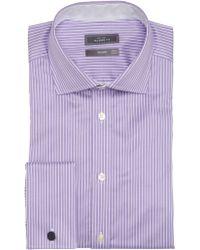 John Lewis - Luxury Twill Stripe Shirt with Cufflinks - Lyst