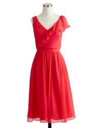 J.Crew Petite Serena Dress In Silk Chiffon - Lyst