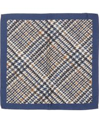Barneys New York Crossweave Silk Pocket Square - Lyst