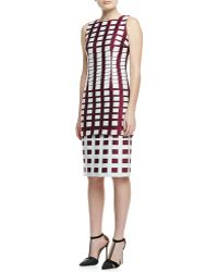 Carolina Herrera Gradual Squares Jacquard Dress - Lyst