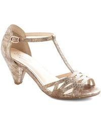 Seychelles Everybody Dance Heel in Bronze - Lyst