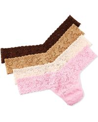 Hanky Panky 4-pack Box Set Of Low-rise Lace Thongs - Lyst