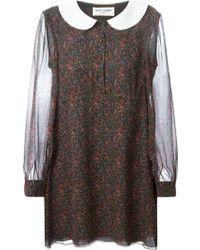 Saint Laurent Paisley Tunic Dress - Lyst