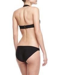 Hervé Léger Basic Halter Bandage Twopiece Swimsuit Black - Lyst
